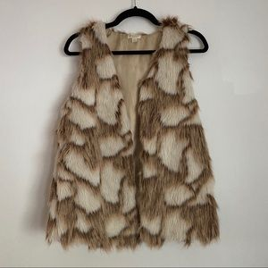 Faux Fur Vest w/ Pockets